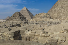 Great Egyptian pyramids in Giza, Cairo Stock Images