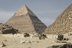 Great Egyptian pyramids in Giza, Cairo Royalty Free Stock Photography