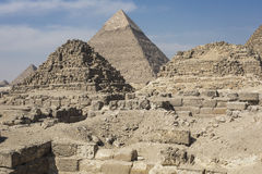 Great Egyptian pyramids in Giza, Cairo Royalty Free Stock Image