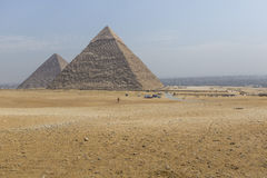 Great Egyptian pyramids in Giza, Cairo.  Stock Photography
