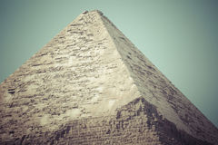 Great Egyptian pyramids in Giza, Cairo.  Royalty Free Stock Images