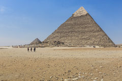 Great Egyptian pyramids in Giza, Cairo.  Royalty Free Stock Image
