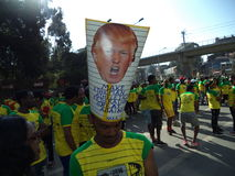 Great Ethiopian Run and Trump. In addis ababa, masqal square, 2017 Royalty Free Stock Photos