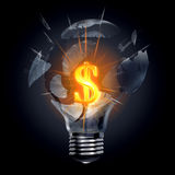 Great and explosive money making idea Royalty Free Stock Photos