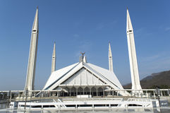 The great Faisal mosque pakistan Royalty Free Stock Photography