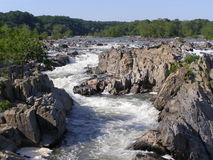 Great Falls. Another view of the Potomac River at Great Falls National Park, Virginia.  This park is not too far from the DC area Stock Image