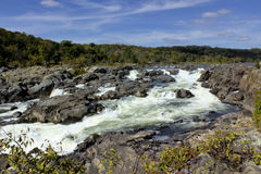 Great Falls av Potomacet River Fotografering för Bildbyråer