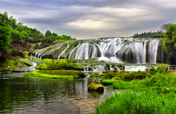 Great Falls. This is China's famous tourist attractions in Guizhou Huangguoshu Falls royalty free stock photos