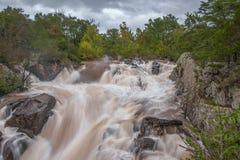 Great Falls del fiume Potomac immagine stock libera da diritti
