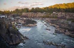 Great Falls delstatspark royaltyfri foto