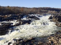 Great Falls, el río Potomac imagen de archivo