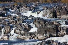Great Falls en automne images stock