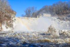 Great Falls et un arc-en-ciel photos libres de droits