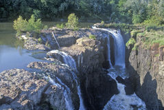 Great Falls, fiume di Passaic in Paterson, NJ Immagini Stock Libere da Diritti