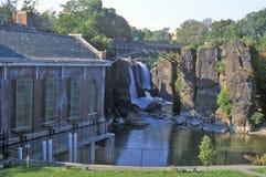 Great Falls, fiume di Passaic in Paterson, NJ Immagine Stock Libera da Diritti
