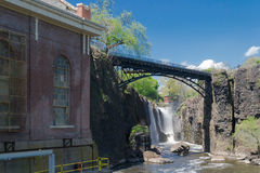Great Falls, fiume di Passaic in Paterson, NJ Immagine Stock