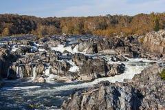 Great Falls i höst II Arkivfoton