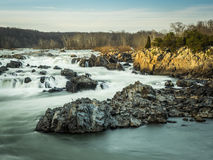 Great Falls in Last Rays of the Day Stock Photos