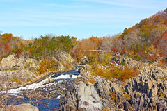 Great Falls National Park in autumn, Virginia USA. Royalty Free Stock Image