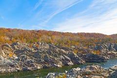 Great Falls National Park in autumn, Virginia USA Stock Image