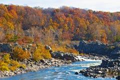 Great Falls National Park in autumn, Virginia USA Stock Photography