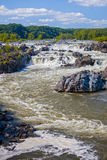 Great Falls National Park Virginia. Waterfalls at Great Falls National Park in Virginia on a summer day Stock Photo