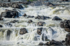 Great Falls National Park Virginia. Waterfalls at Great Falls National Park in Virginia on a summer day Stock Image