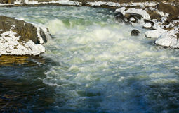 Great Falls op Potomac buiten Washington DC royalty-vrije stock afbeelding