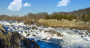 Great Falls op Potomac buiten Washington DC royalty-vrije stock fotografie