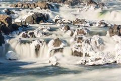 Great Falls op Potomac buiten Washington DC stock afbeeldingen
