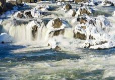Great Falls op Potomac buiten Washington DC stock afbeelding