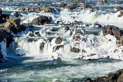Great Falls op Potomac buiten Washington DC stock fotografie