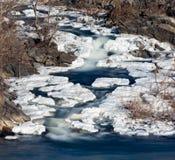 Great Falls på Potomac utanför Washington DC arkivbilder