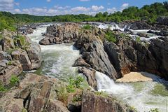 Great Falls på Potomacet River royaltyfri foto