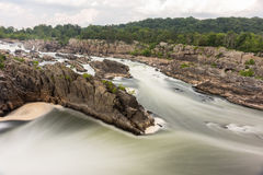 Great Falls Park. In Virginia, United States. It is along the banks of the Potomac River in Northern Fairfax County Stock Photos