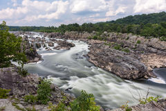 Great Falls Park. In Virginia, United States. It is along the banks of the Potomac River in Northern Fairfax County Stock Photography