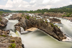 Great Falls Park. In Virginia, United States. It is along the banks of the Potomac River in Northern Fairfax County Royalty Free Stock Photo