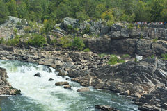 Great Falls Park on the Potomac River Stock Images