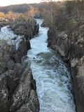 Great Falls, Potomac, DM au crépuscule Photo stock