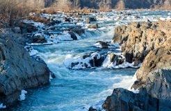 Great Falls on Potomac outside Washington DC Royalty Free Stock Image