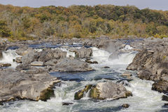 Great Falls on the Potomac River Royalty Free Stock Images