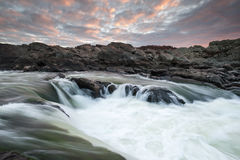 Great Falls Potomac River Sunrise Cascade Royalty Free Stock Photos