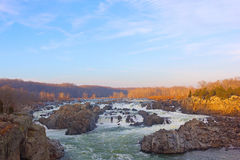 Great Falls on Potomac River, USA. Great Falls National Park in Virginia and Maryland, USA Stock Photos