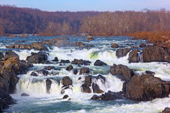 Great Falls on Potomac River, USA. Great Falls National Park in Virginia and Maryland, USA Royalty Free Stock Images