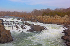 Great Falls on Potomac River, USA Royalty Free Stock Image