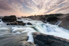 Great Falls Potomac River Waterfall Sunrise Scenic Royalty Free Stock Photo