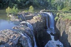 Great Falls, rio de Passaic em Paterson, NJ Imagens de Stock Royalty Free