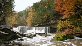 Great Falls van de Lijn van de Blikslagerskreek stock footage
