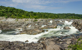Great Falls Virginia. Potomac River Rapids at Great Falls National Park Stock Photo