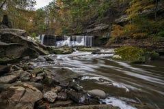 Great Falls von Stümper ` s Nebenfluss-Schlucht Stockfotos
